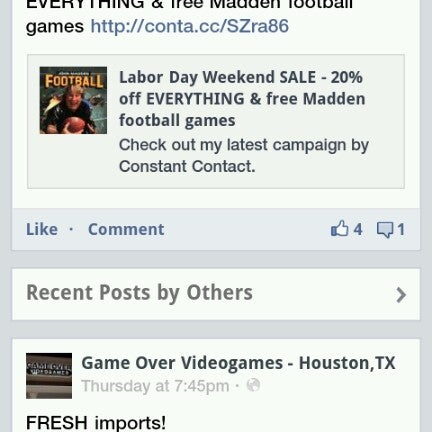 They post sales and newly traded in games to Facebook. So, add them for a chance to call dibs on a rarity.