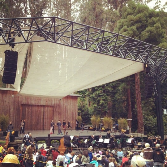 Photo taken at Sigmund Stern Grove by Anna D. on 7/29/2012