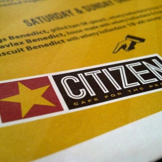 Photo taken at Citizen Cafe by Derek F. on 7/22/2012