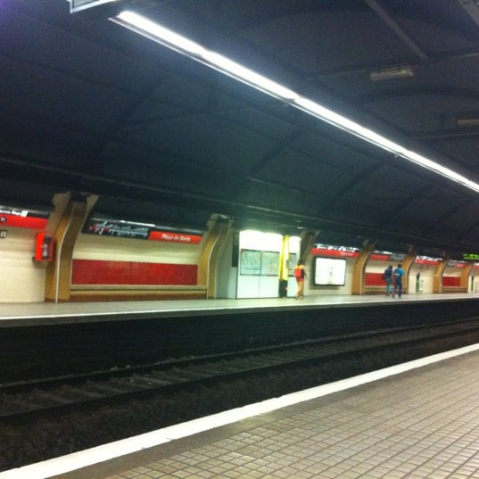 Photo taken at METRO Plaça de Sants by Irina C. on 9/6/2012