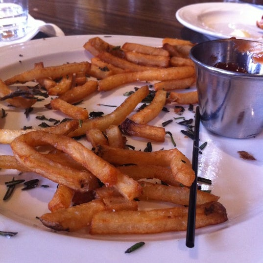 Hands down, try an order of truffle fries. They are simply ah-mazing!