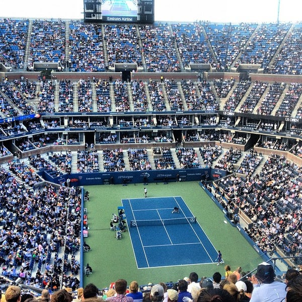 Photo taken at US Open Tennis Championships by Nihal M. on 9/10/2012