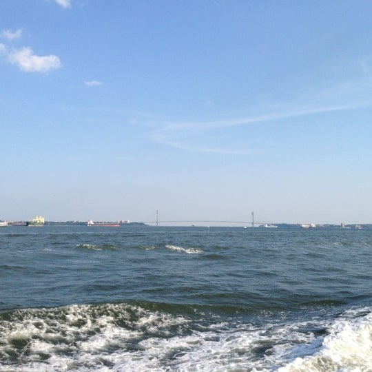 Photo taken at New York Harbor by Brad S. on 7/4/2012