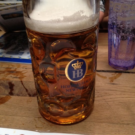 Photo taken at Hofbräuhaus Newport by Erik H. on 2/24/2012