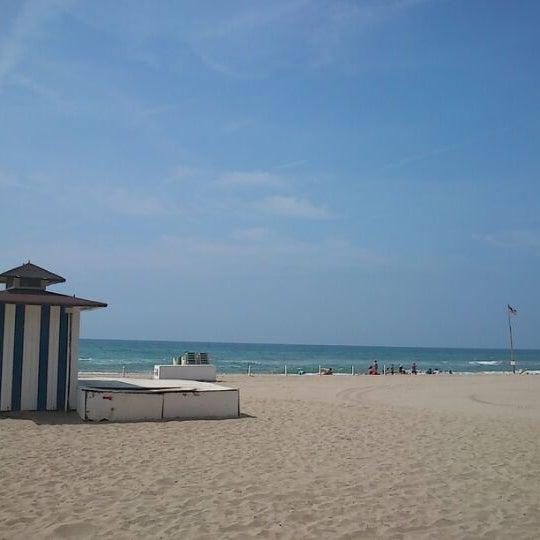Photo taken at Platja de Calafell by xavi V. on 6/6/2012