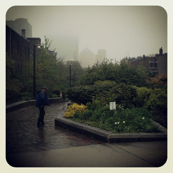 Photo taken at SW Corridor Park - Back Bay by Hiroki M. on 5/1/2012