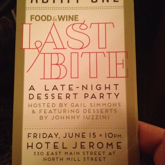 Photo taken at Hotel Jerome by Stephen on 6/16/2012