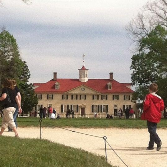 Photo taken at George Washington's Mount Vernon Estate, Museum & Gardens by Megan C. on 4/5/2012