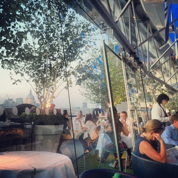 Photo taken at OXO Tower Brasserie by Dane K. on 7/26/2012