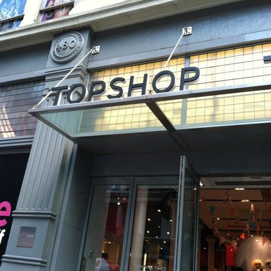 Clothing store in soho