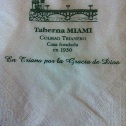 Photo taken at Taberna Miami by Mariana S. on 5/20/2012