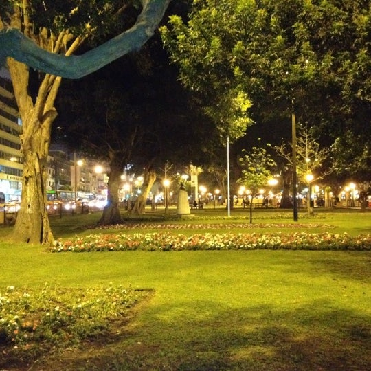 Photo taken at Parque Kennedy by Ginna P. on 9/7/2012