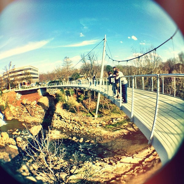Photo taken at Liberty Bridge by Josh M. on 3/8/2012