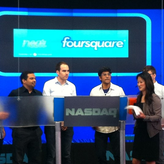 Photo taken at Nasdaq Marketsite by Leo K. on 5/21/2012