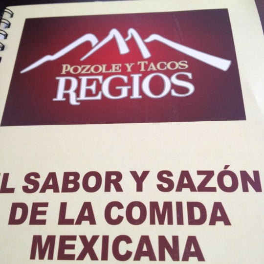 Photo taken at Pozole y Tacos Regios by Alberto R. on 8/10/2012