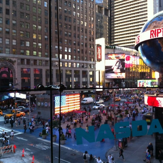 Photo taken at Nasdaq Marketsite by Carlos P. on 6/27/2012