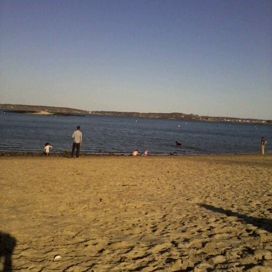 Photo taken at East End Beach by Crystale V. on 3/21/2012