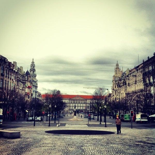 Photo taken at Avenida dos Aliados by Carlos F. on 4/11/2012