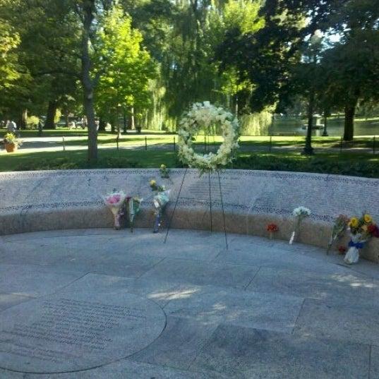 Photo taken at Massachhusetts 9/11/2001 Memorial by Abner R. on 9/11/2012