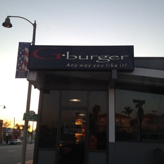 Photo taken at G Burger by Jonathan S. on 3/9/2012