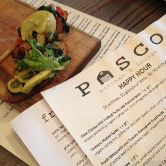 Pasco Kitchen And Lounge Menu