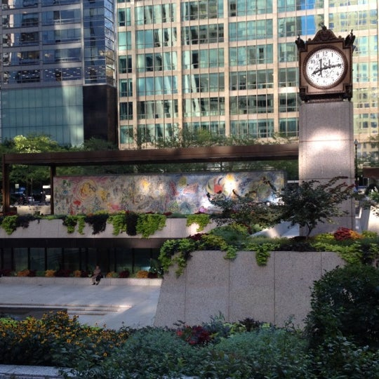 """Photo taken at Chagall Mosaic, """"The Four Seasons"""" by Nikki on 8/22/2012"""