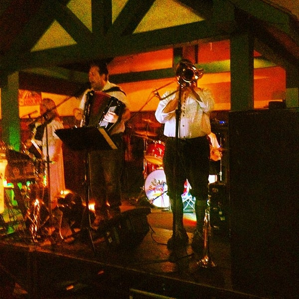 Photo taken at Zeppelin Hall Biergarten by Matt G. on 4/15/2012