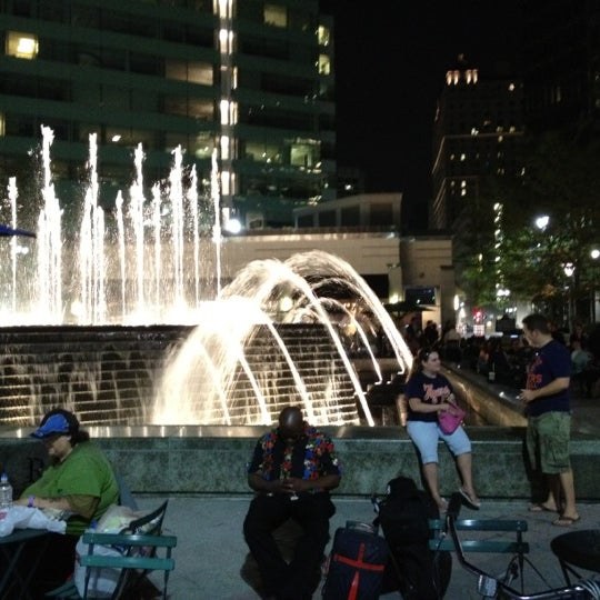 Photo taken at Campus Martius Park by Tommy A. on 9/1/2012