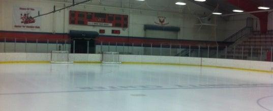 Photo taken at wayne ice arena by Ryan J. on 2/19/2012