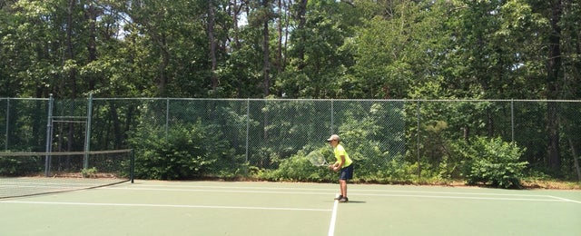 Photo taken at Harthaven Tennis Camp by Kimberly W. on 6/29/2014