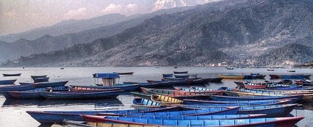 Photo taken at Phewa Tal / Fewa Lake by Mitz U. on 12/24/2013
