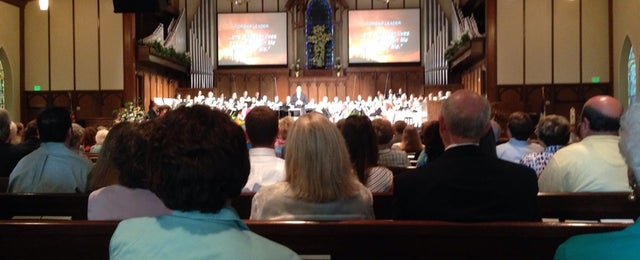 Photo taken at First Baptist Church Decatur by kyle r. on 4/20/2014