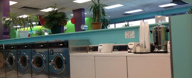 Photo taken at Bubbleland Laundromat by Andrea on 1/14/2013