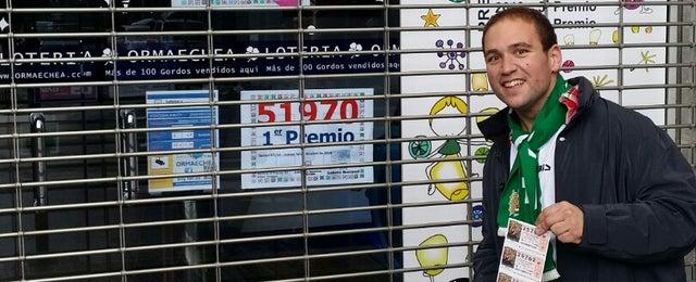 Photo taken at Lotería Ormaechea by Santiago R. on 12/6/2014
