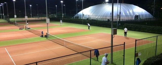 Photo taken at Sutton Lawn Tennis Club by Steffinho on 10/21/2014