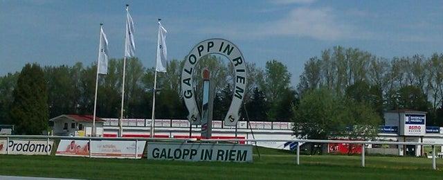Photo taken at Galopprennbahn München Riem by Sabine K. on 5/1/2012