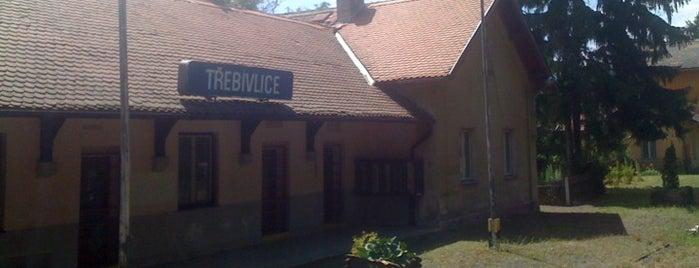 Železniční stanice Třebívlice is one of Železniční stanice ČR: Š-U (12/14).