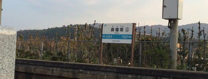 麻植塚駅 (Oezuka Sta.)(B08) is one of JR.