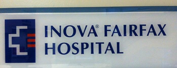 Inova Fairfax Hospital is one of hospitals.