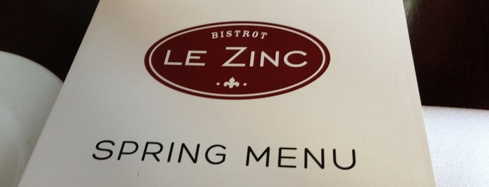 Le Zinc is one of 100 Very Best Restaurants - 2012.