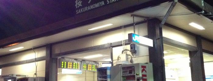 Sakuranomiya Station is one of JR線の駅.
