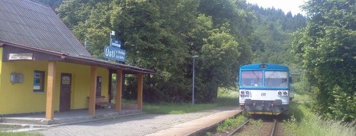 Železniční zastávka Ústí u Vsetína zastávka is one of Železniční stanice ČR: Š-U (12/14).