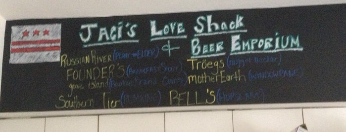 Jaci's Love Shack & Beer Emporium is one of DC favorites.