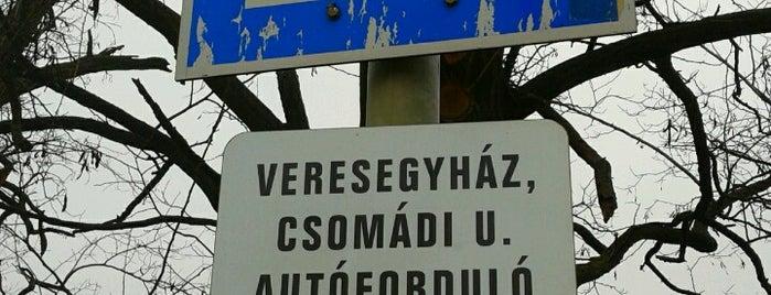 Csomádi u. Autóbuszforduló is one of Veresegyház.