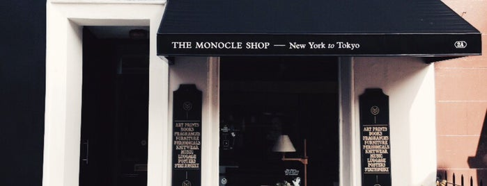 The Monocle Shop is one of London to-do.