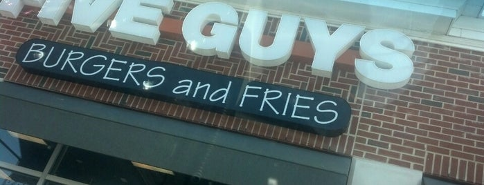 Five Guys is one of been here.