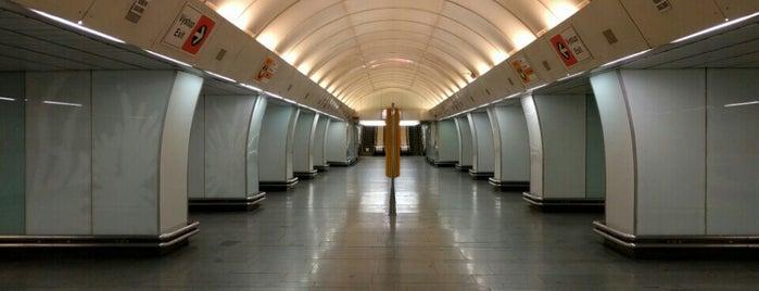 Metro =B= Invalidovna is one of Metro B.