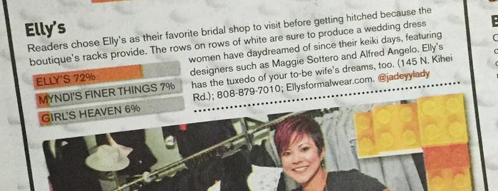 Elly's Formal Wear & Bridal is one of Potential Vendors.