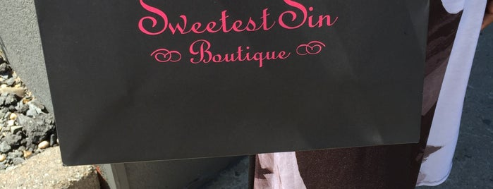 Sweetest Sin Boutique is one of stores that stock Between the Sheets.