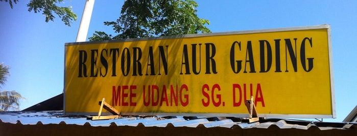 Restoran Aur Gading Mee Udang Sungai Dua is one of makan sedap.